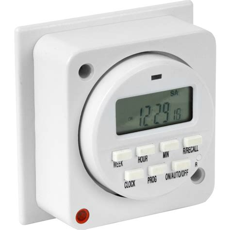 7 day electronic lighting timer 16a 8a toolstation