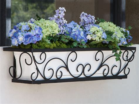 black metal window boxes black wrought iron window boxes with liners by windowbox