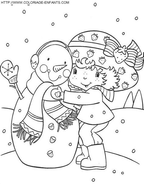 free coloring pages of strawberry shortcake christmas