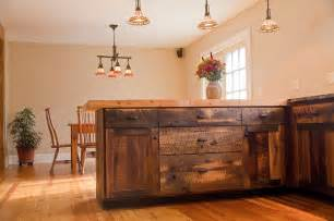 Barnwood Kitchen Cabinets by Reclaimed Oak Barnwood Cabinets