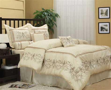 California King Quilt Bedding Sets Nanshing Cal King 7 Jacquard Comforter Set Ivory California King Ebay