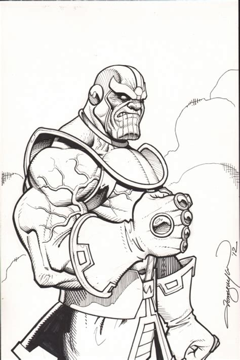 marvel thanos coloring pages thanos black and white comic awesomeness pinterest