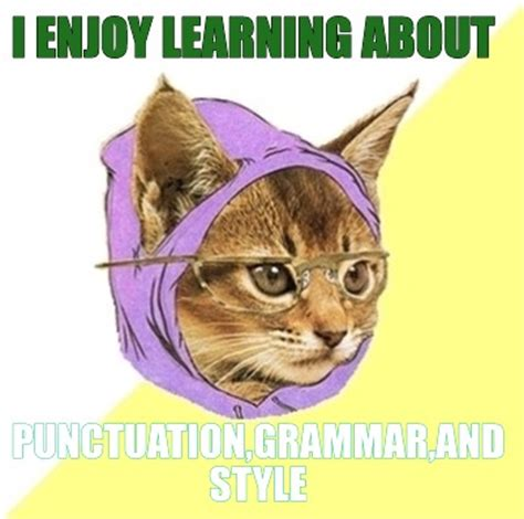 Meme About Memes - meme creator i enjoy learning about punctuation grammar