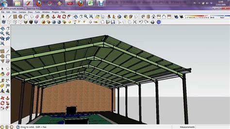 design gudang desain konstruksi baja lapangan futsal youtube