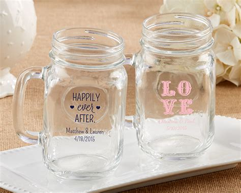Mason Jar Wedding Giveaways - personalized mason jar wedding favors my wedding favors