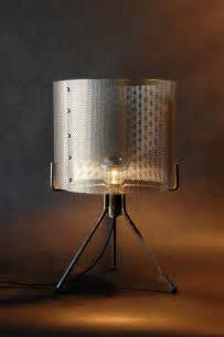 Home Design Zymeth Aluminum Table Lamp by Industrial Perforated Metal Drum Shade Condo Pinterest