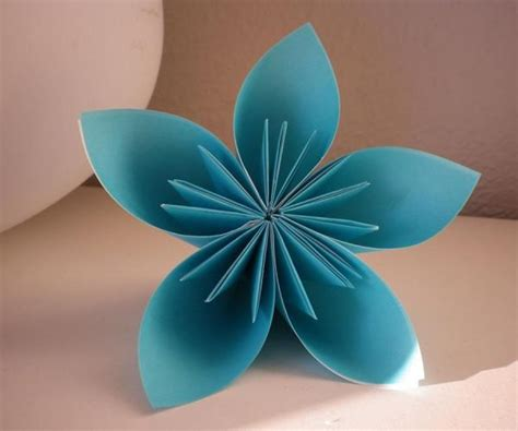 Origami 4 Petal Flower - how to make an origami 5 petal flower 10 steps