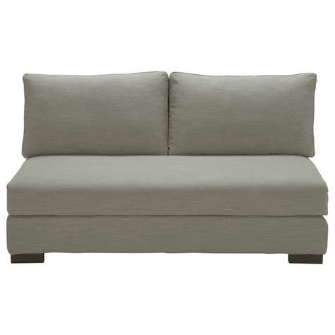 light gray sofa 2 seater armless modular sofa in light grey terence maisons du monde