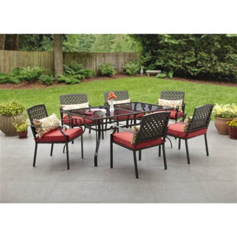 Walmart Patio Dining Sets Alexandria Crossing 7 Patio Dining Set Seats 6 Walmart