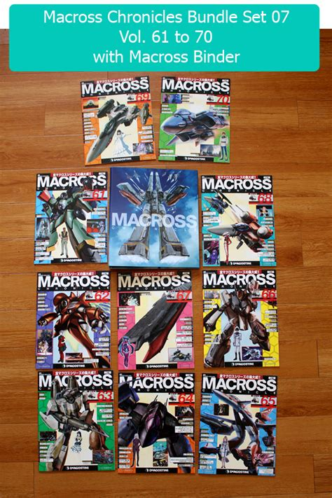 Special Bundle Set macross chronicle magazine vol 61 to 70 special bundle