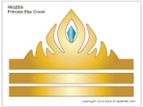 elsa crown template frozen princess crown printable templates coloring