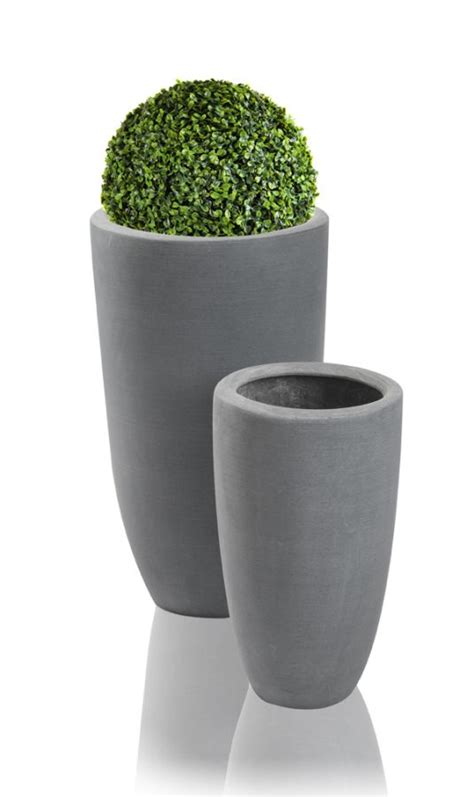 Polystone Planters by Grey Ambler Polystone Planter Set Of 2 H51cm