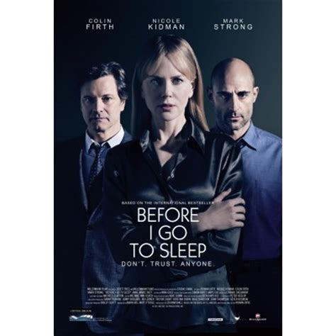 before i go to before i go to sleep movie poster 2 internet movie poster awards gallery