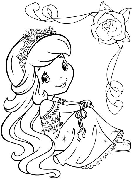 Strawberry Shortcake Princess Coloring Pages strawberry shortcake princess coloring pages coloring pages