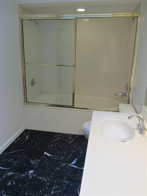 bathroom with separate shower and bathtub add a separate shower and tub to a skinny bathroom