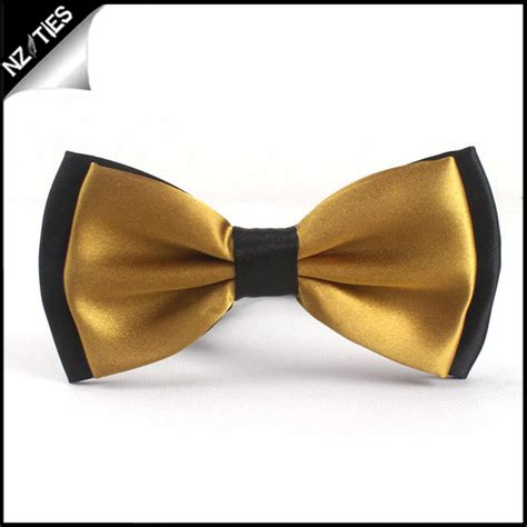 gold with black back bow tie nz ties