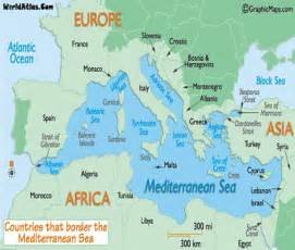 Mediterranean Sea On World Map by Mediterranean Sea Map Images