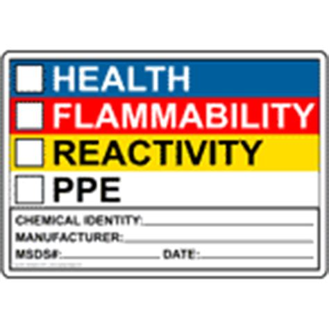 Nfpa 704 Placard Clipart Best Hmis Label Template Free