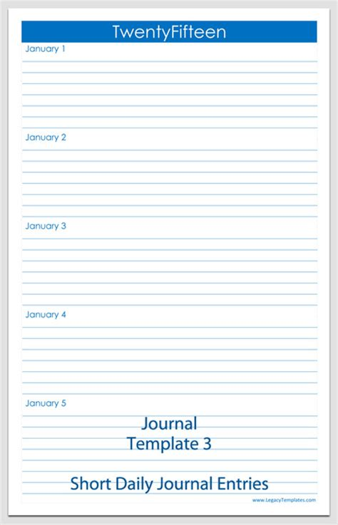 free daily journal template journal template free printable journal pages journal