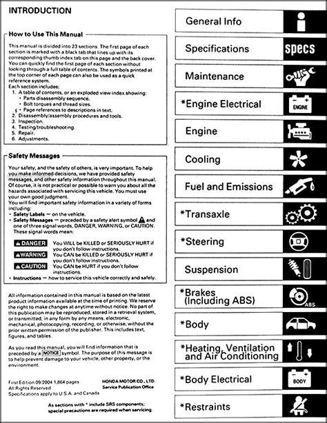 manual repair free 1999 honda civic engine control 2001 2005 honda civic repair shop manual original