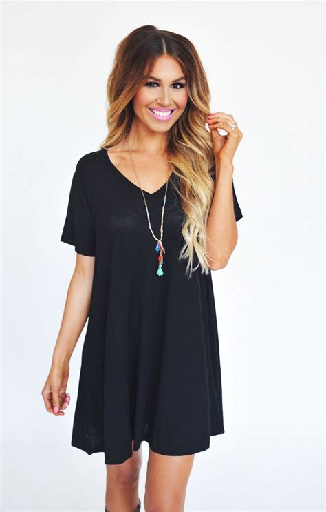 Dress Dotie Tunic v tunic black dottie couture boutique never enough my hair fitted