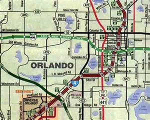 Map Of Orlando Fl by Map Of Orlando
