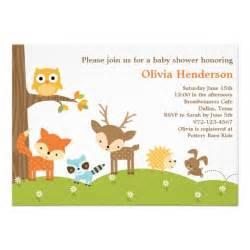 cute woodland animal baby shower invitation superdazzle