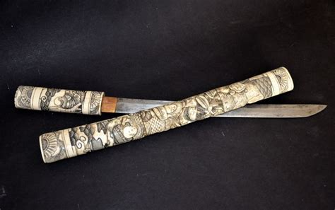 tanto tanto tanto samurai knife tanto in bone japan early 20th century