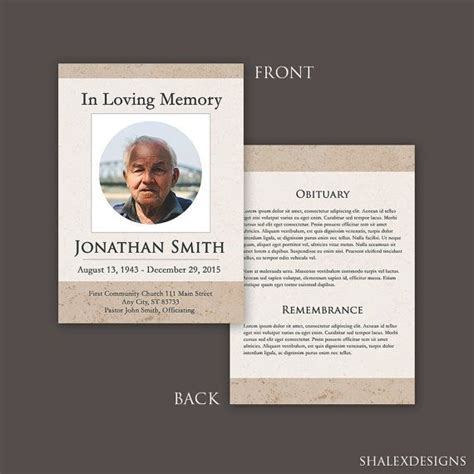 Funeral Program Template Template Photoshop Funeral Program Templates Pinterest Funeral Free Funeral Program Template Photoshop
