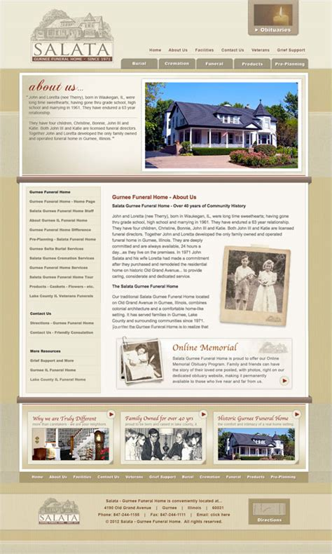 Funeral Home Web Design Funeral Website Design Funeral Home Web Design