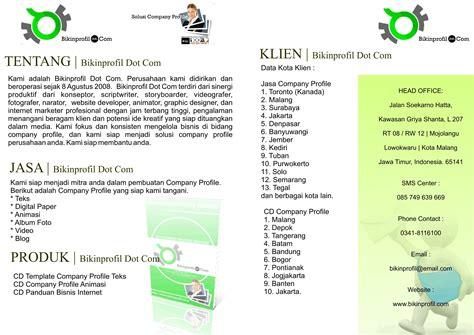 contoh desain company profile perusahaan contoh booklet joy studio design gallery best design