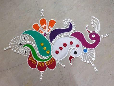 design rangoli free hand peacock rangoli designs for diwali simple rangoli designs