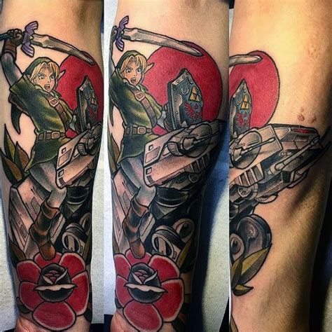old school zelda tattoo 90 zelda tattoos for men cool gamer ink design ideas