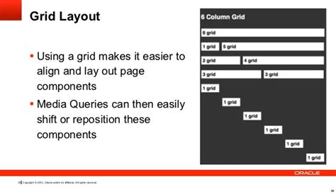 grid layout oracle responsive web design in oracle application express