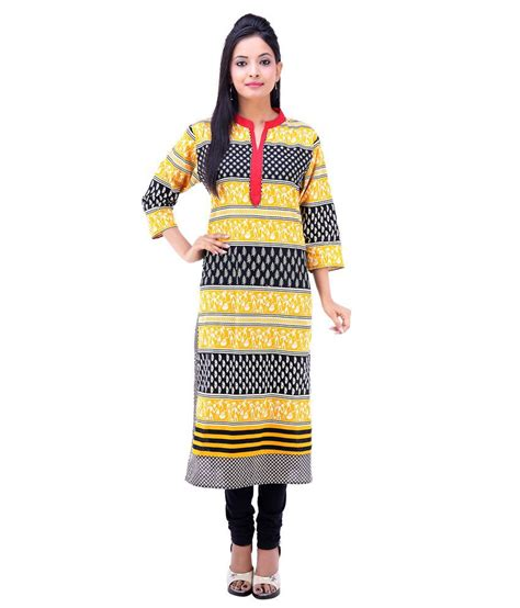 yellow kurti pattern abhianadan designs yellow cotton kurti buy abhianadan