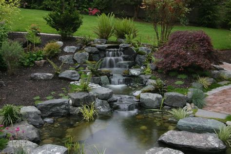 backyard ponds with waterfalls ponds and waterfalls landscape asian with none