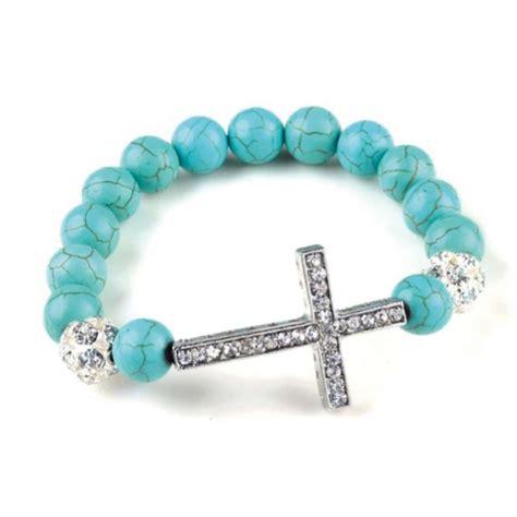 sideways cross charms for jewelry turquoise sideways cross bracelets fashionamazing