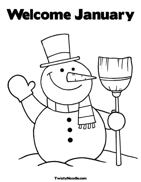 january color january coloring pages new calendar template site