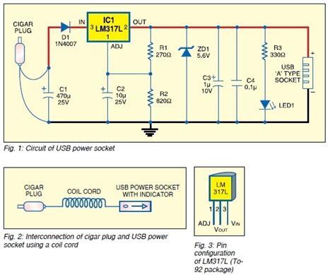 usb dc power supply  cigar lighter socket