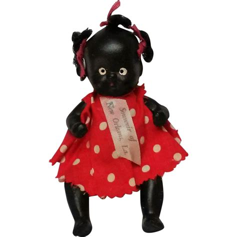 bisque black doll miniature all bisque black americana doll souvenir new