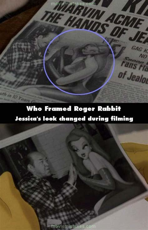 Who Framed Roger Rabbit (1988) movie mistake picture (ID ... Who Framed Roger Rabbit Jessica Rabbit Scene