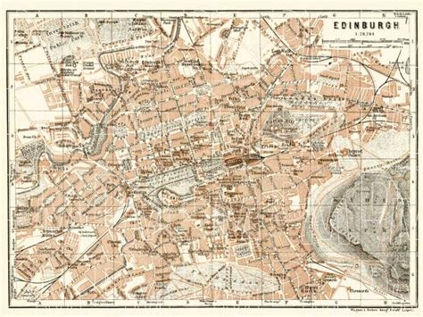 download great city maps a historical journey through maps plans and paintings 1st edition old map of edinburgh in 1906 buy vintage map replica poster print or download picture