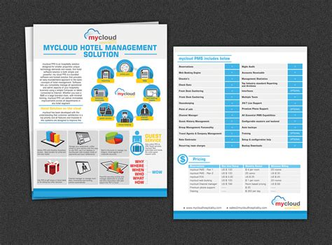 brochure design for mycloud www mycloudhospitality com by