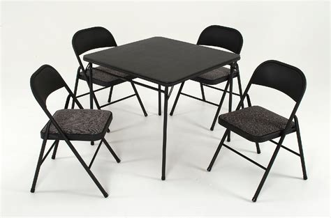 cosco card table and chairs cosco home and office products 5 piece set with vinyl
