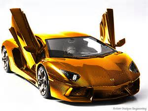 Gold Plated Lamborghini Gold Plated Lamborghini Encrusted With Gems To Go For 7 5m