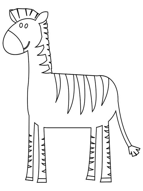 zebra outline coloring page free coloring pages of outline of zebra