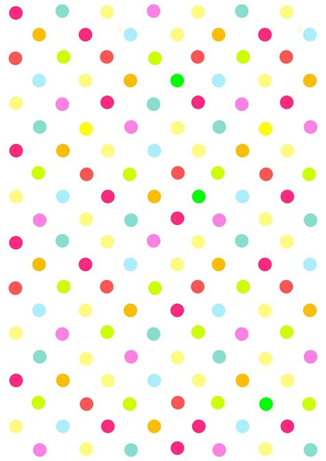 Paper Pattern - free digital multicolored polka dot scrapbooking paper