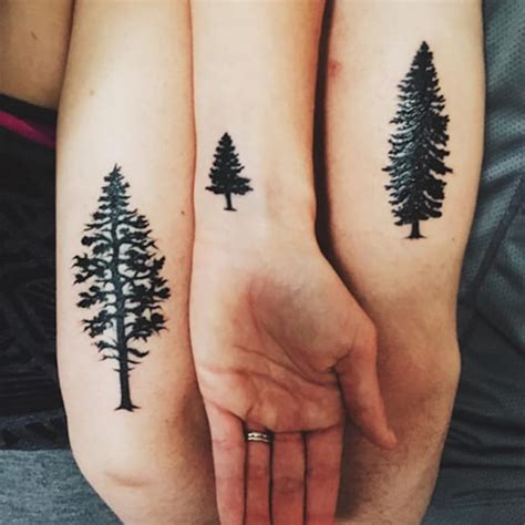 christmas tree tattoo ideas and designs