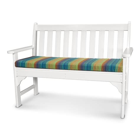 56 inch bench cushion ateeva 56 w x 18 d outdoor bench and swing seat cushion