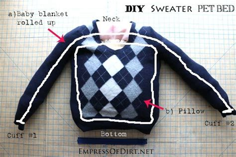 is your bed made is your sweater on diy sweater pet bed